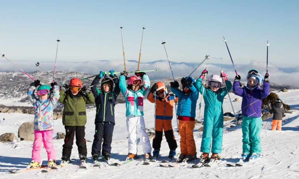 Kids and family skiing at Thredbo