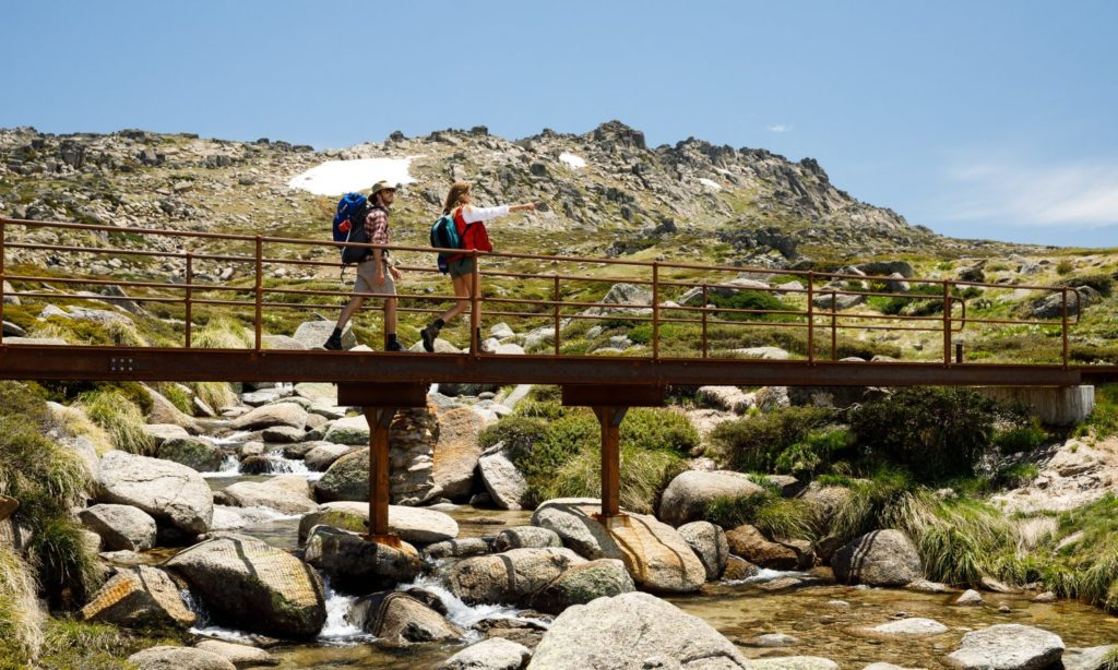 walking in summer in Thredbo