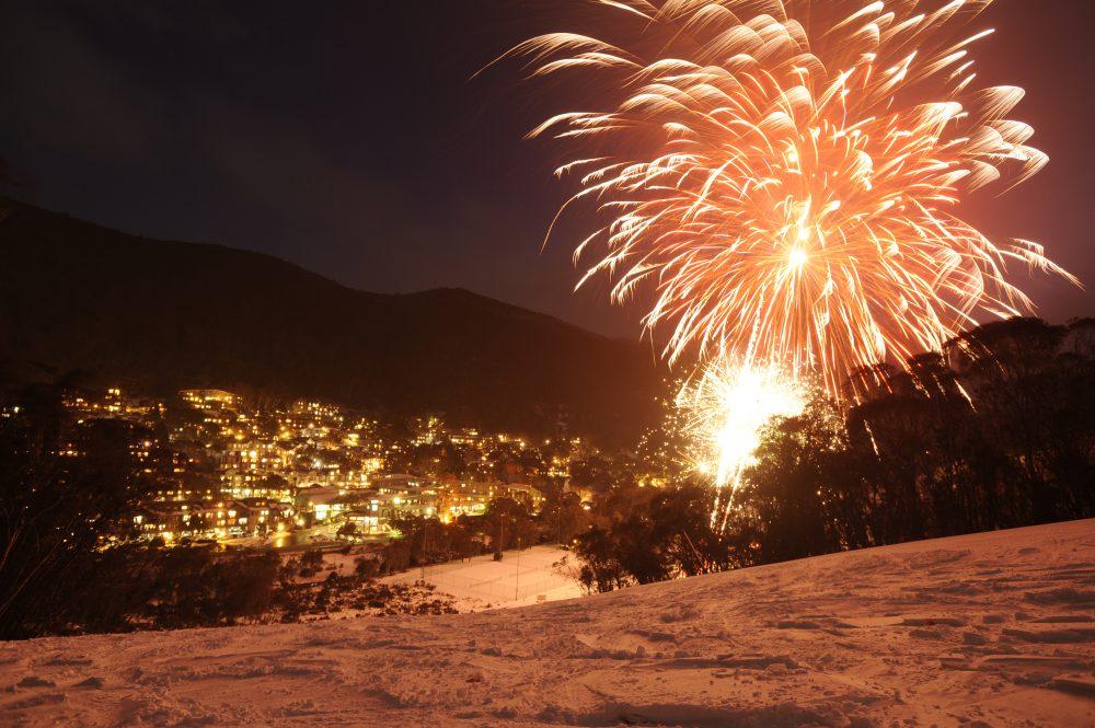 Watch fireworks each Saturday night in Thredbo during winter 2021